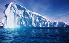 Photo of an iceberg.